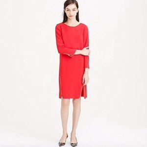 J.Crew Double Zip Dress in Red
